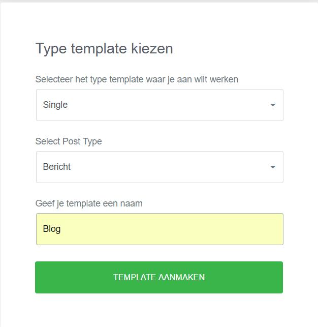 Blog template maken met Elementor