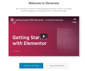 Starten met Elementor