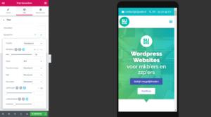 Website aanpassen voor mobiel met Elementor