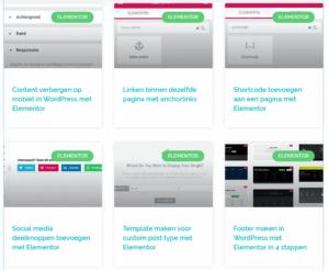 Berichten op verschillende pagina's plaatsen in Wordpress met elementor