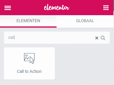 Call to action widget elementor