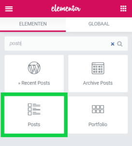 Posts widget Elementor