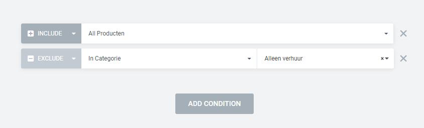 Product template uitsluiten voor bepaalde pagina's
