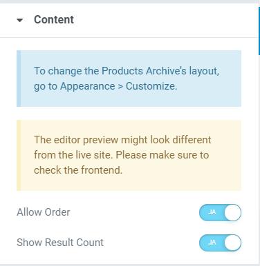 WooCommerce categorie pagina aanpassen elementor oceanwp