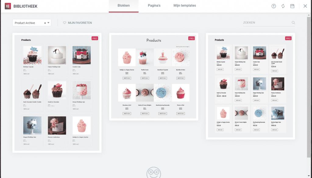 WooCommerce categorie pagina aanpassen templates Elementor