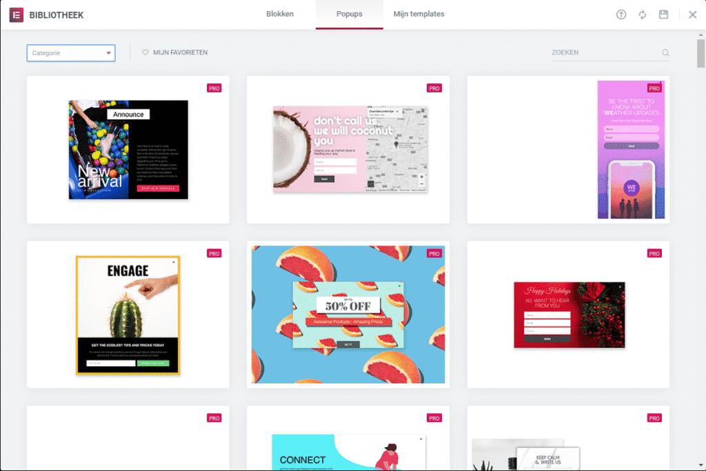 popup maken in wordpress met elementor templates