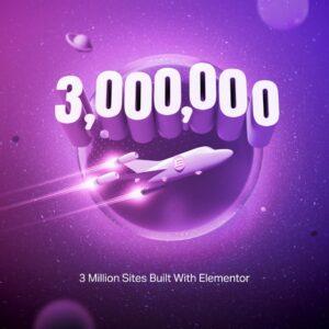 Elementor 3 miljoen installaties