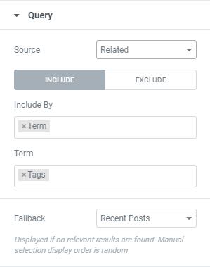 Gerelateerde berichten instellen slide in elementor popup
