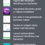 laatste blogs in footer wordpress elementor