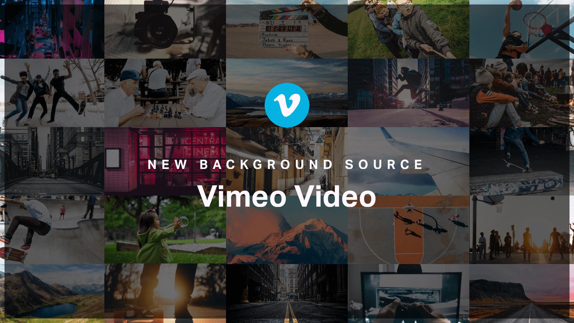 Vimeo achtergrond video Elementor