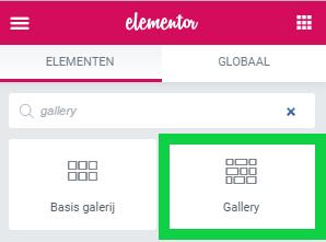 fotogalerij wordpress elementor pro