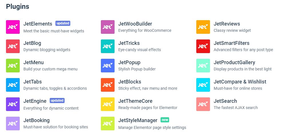 Elementor addons JetPlugins