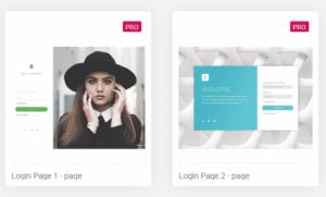 Wordpress inlogpagina maken elementor templates