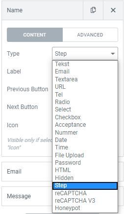 multi step formulieren wordpress maken met elementor