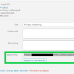 Elementor pdf invoegen url kopieren