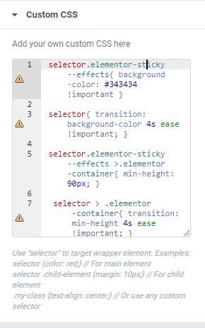 Transparante header wordpress elementor