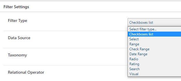 Type blogfilters elementor jetsmartfilters